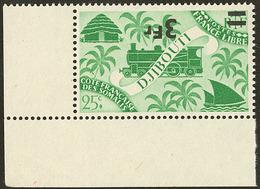 ** Surcharge Renversée. No 259 (Maury 261b), Cdf. - TB (cote Maury) - Côte Française Des Somalis (1894-1967)