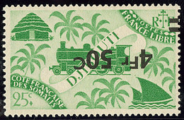 ** Surcharge Renversée. No 260a. - TB - Côte Française Des Somalis (1894-1967)
