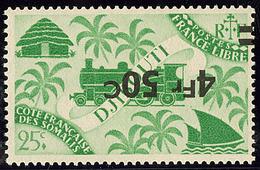 ** Surcharge Renversée. No 260a. - TB - French Somali Coast (1894-1967)