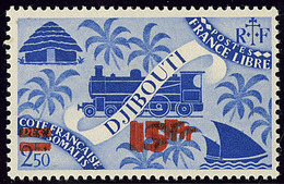 ** Double Surcharge. No 261b. - TB - French Somali Coast (1894-1967)