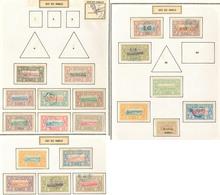 * Collection. 1894-1947 (Poste, Taxe), Valeurs Moyennes Et Séries Complètes, Des Ex Obl. - TB - Côte Française Des Somalis (1894-1967)