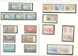 ** Collection. Essais De Couleur Non Dentelés. 1956-1962, Dont Deux Bandes De Trois, Deux Paires Et 9 Unités. - TB - French Somali Coast (1894-1967)