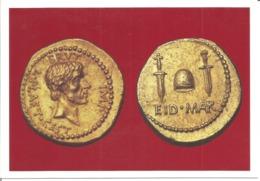 """CPM Monnaie """" Monnaie Romaine émise Par BRUTUS """" - Monnaies (représentations)"""