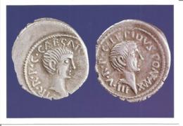 """CPM Monnaie """" Monnaies Romaines: OCTAVE Et LEPIDE """" - Monnaies (représentations)"""