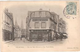 CPA Chartres Rue Du Bois Merrain Et Rue Noël Bellay 28 Eure Et Loir Fresneau - Chartres