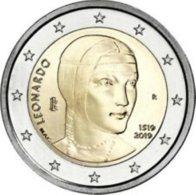 Italie  2019  2 Euro Commemo    200 Jaar Leonardo Da Vinci    UNC Uit De Rol  UNC Du Rouleaux !! - Italia