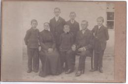 AK-div.27- 004  -  Hartkarton Großformat  Atelierfoto Atelier Römisches Haus , Leipzig -  Ca 110 X 170 Mm - Familienfoto - Anonyme Personen