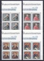 Liechtenstein/1984 - Famous Visitors/Gemälde Berühmter Gäste III - Block Set - MNH - Ungebraucht