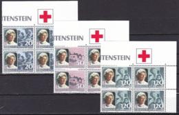 Liechtenstein/1985 - Red Cross/Rot Kreuz - Block Set - MNH - Liechtenstein