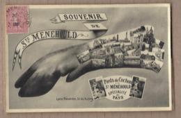 CPA 51 - SAINTE-MENEHOULD - SOUVENIR DE - TB CP Multivue Dans Un Pieds De Cochon En Cartes Postales - Sainte-Menehould