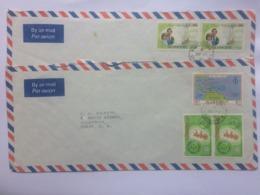 ST. VINCENT 1981 2 X Air Mail Covers Sent To England - Plus Size - St.Vincent (1979-...)