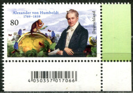 BRD - 3492 ECKE REU - ** Postfrisch (F) - 80C       Alexander Humboldt - Ausgabe 05.09.2019 - [7] République Fédérale