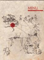 Menu Illustré Par George Villa Sur Parchemin  4 épaisseurs états Généraux De La Gastronomie à Namur En Juillet 1953 - Menus