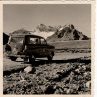 Foto Von Oldtimer In Den Alpen Bergen Ca 1950 Kennzeichen Rosenheim RO AM 320 - Fotografie