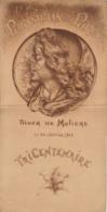 Menu Illustré Les Parisiens De Paris Diner De Molière Tricentenaire 1922 - Menú