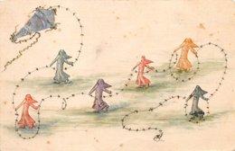 Timbres - N°60452 - Collage De Timbre - Semeuses Jouant Avec Un Cerf-volant - Timbres (représentations)