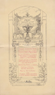 Menu Offert à Auguste Raulin En 1900 Au Palais D'orsay - Menú