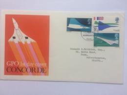 GB 1969 Concorde FDC - 1952-.... (Elizabeth II)
