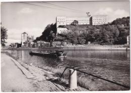 Huy : Le Fort Et La Collégiale -  Péniche - Hoei