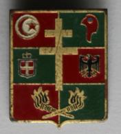 Rare Insigne Militaire émaillé Service Des Essences 1° Armée Croix De Lorraine Allemagne - Marine