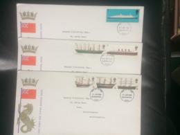 GB 1969 British Ships FDC`s X 3 - Large Format - 1952-.... (Elizabeth II)