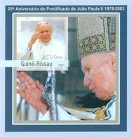 Guinea - Bissau 2003 - 25th Anniversary Of Pope S/s. Y&T 138, Michel 2061 BL382 - Guinea-Bissau