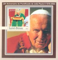 Guinea - Bissau 2003 - 25th Anniversary Of Pope S/s. Y&T 139, Michel 2062 BL383 - Guinea-Bissau