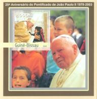 Guinea - Bissau 2003 - 25th Anniversary Of Pope S/s. Y&T 140, Michel 2063 BL384 - Guinea-Bissau