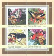 Guinea - Bissau 2003 - Butterfly - Mushrooms 4v Y&T 1062-1065, Michel 2091-2094 - Guinea-Bissau