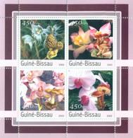 Guinea - Bissau 2003 - Orchides - Mushrooms 4v. Y&T 1058-1061, Michel 2087-2090 - Guinea-Bissau