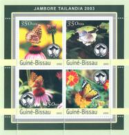Guinea - Bissau 2003 - Jamboree Tailandia 2003 - Butterfly 4v. Y&T 1054-1057, Michel 2033-2036 - Guinea-Bissau