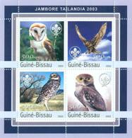 Guinea - Bissau 2003 - Jamboree Tailandia 2003 - Owls 4v. Y&T 1134-1137, Michel 2041-2044 - Guinea-Bissau