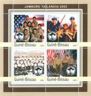 Guinea - Bissau 2003 - Jamboree Tailandia 2003 - Scouts 4v. Y&T 1126-1129, Michel 2045-2048 - Guinée-Bissau