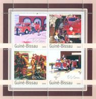 Guinea - Bissau 2003 - Fire Engines 4v. Y&T 1138- 1141, Michel 2164-2167 - Guinée-Bissau