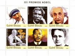 Guinea - Bissau 2003 - Prix Nobel 6v. Y&T 1216-1221, Michel 2168-2173 - Guinea-Bissau