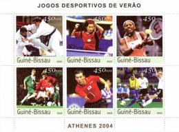 Guinea - Bissau 2003 - Athens 2004 6v. Y&T 1312-1317, Michel 2381-2386 - Guinée-Bissau