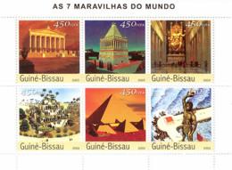 Guinea - Bissau 2003 - Seven Wonders Of The World 6v. Y&T 1378-1383, Michel 2394-2399 - Guinea-Bissau