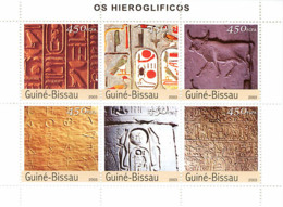 Guinea - Bissau 2003 - Hieroglyphs 6v. Y&T 1384-1389, Michel 2339-2344 - Guinea-Bissau