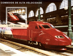 Guinea - Bissau 2003 - Modern Trains S/s. Y&T 179, Michel 2414 BL421. - Guinea-Bissau