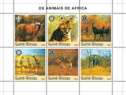 Guinea - Bissau 2003 - Animals Of Africa 6v. Y&T 1456-1461, Michel 2444-2449 - Guinée-Bissau
