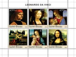 Guinea - Bissau 2003 - Paintings Of Leonardo Da Vinci 6v. Y&T 1468-1473, Michel 2531-2536 - Guinea-Bissau