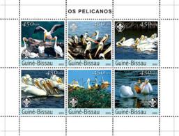Guinea - Bissau 2003 - Pellicans 6v. Y&T 1474-1479, Michel 2464-2469 - Guinea-Bissau
