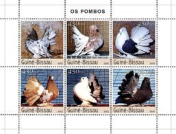 Guinea - Bissau 2003 - Pigeons 6v Y&T 1510-1515, Michel 2476-2481 - Guinea-Bissau
