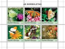 Guinea - Bissau 2003 - Butterflies 6v Y&T 1522-1527, Michel 2482-2487 - Guinea-Bissau