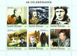 Guinea - Bissau 2003 - Celebrities 6v, Y&T 1546-1551, Michel 2602-2607 - Guinée-Bissau