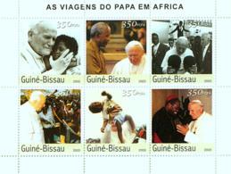 Guinea - Bissau 2003 - Pope's Travels In Africa 6v, Y&T 1570-1575, Michel 2614-2619 - Guinea-Bissau