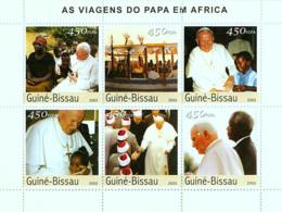 Guinea - Bissau 2003 - Pope's Travels In Africa 6v, Y&T 1579-1581, Michel 2620-2625 - Guinea-Bissau