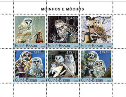 Guinea - Bissau 2004 - Owls & Windmills 6v, Y&T 1666-1671, Michel 2755-2760 - Guinea-Bissau