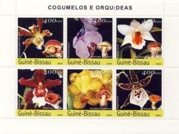 Guinea - Bissau 2004 - Orchids & Mushrooms 6v, Y&T 1672-1677, Michel 2734-2739 - Guinea-Bissau