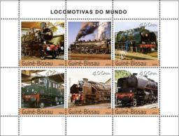 Guinea - Bissau 2004 - Steam Trains (French) 6v, Y&T 1714-1719, Michel 2741-2746 - Guinea-Bissau